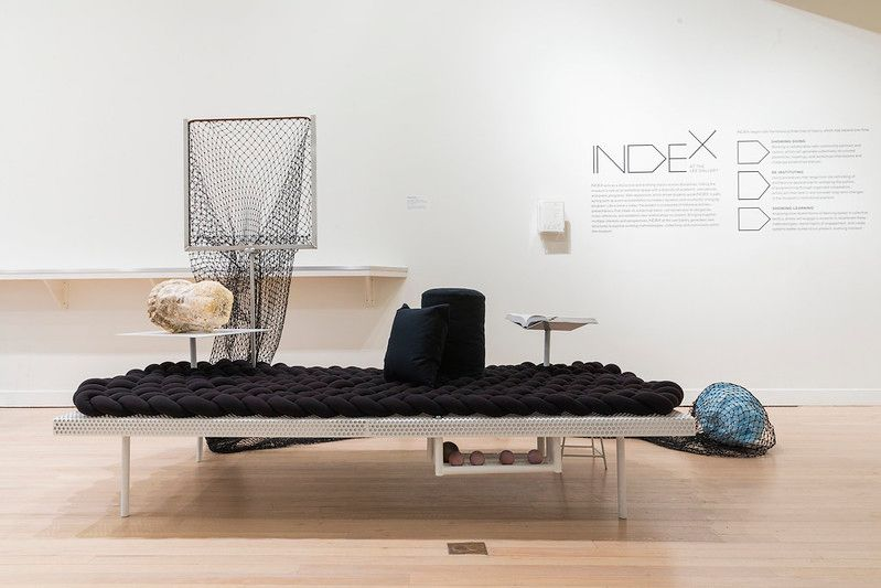 Modular Daybed for Touching Art